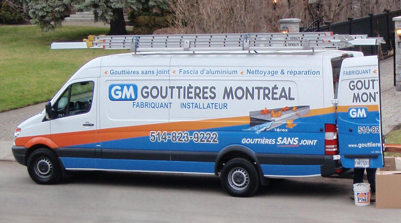 Camion Gouttières Montréal